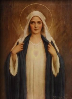 """""""Inmaculado Corazón de María"""", óleo de Charles Bosseron Chambers (1882-1964)."""