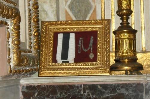 Vista de las reliquias de los mártires anglicanos de Melanesia.