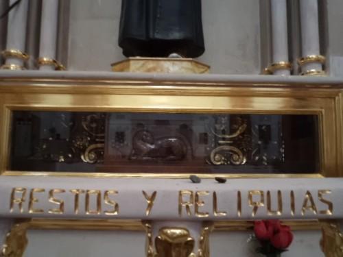 Vitsa de la urna con las reliquias del Santo. Parroquia de Tototlán, México.
