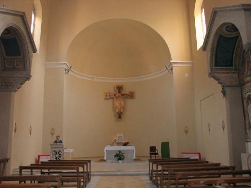 Vista del interior de la iglesia romana de San Vito.
