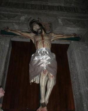 La venerada imagen del Señor de los Guerreros o Señor del Tizonazo.