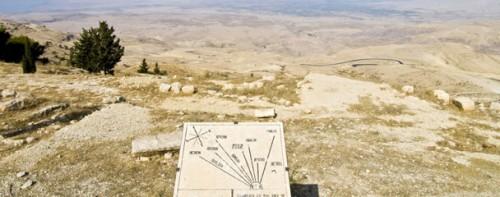 """Vista de la """"tierra prometida"""" desde el monte Nebo."""