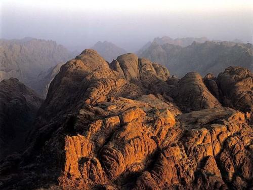 Vista aérea del monte Sinaí.