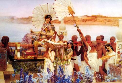 """""""El hallazgo de Moisés"""", óleo de Sir Lawrence Alma-Tadema (1904). Colección privada."""