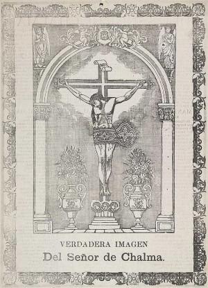 Grabado de principios del siglo XX que representa al Señor de Chalma.