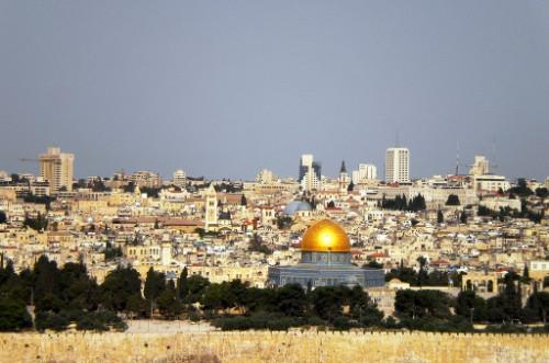 Panorámica de la ciudad de Jerusalén (Israel).