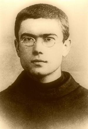 Fotografía del Santo de joven, en su tiempo de novicio.