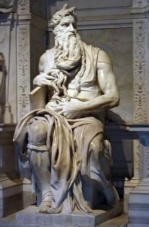 Escultura de Moisés, obra de Miguel Ángel Buonarroti (1515). Iglesia de San Pedro ad Vincula, Roma (Italia).