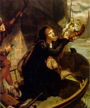 Margaret Roper, hija del Santo, recuperando la cabeza de su padre.