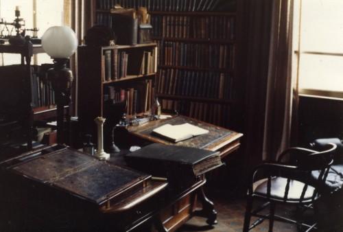 Vista del escritorio del Beato en su despacho del Oratorio de Birmingham, Inglaterra.