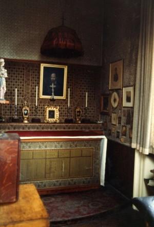 Capilla privada del Beato en su habitación del Oratorio de Birmingham, Inglaterra.