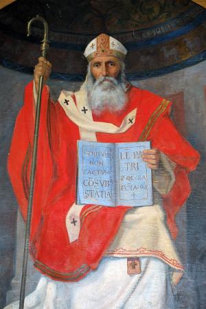 Pintura historicista del Santo, obra de Ángel María de Barela. Sala Capitular del Ayuntamiento de Córdoba, España.