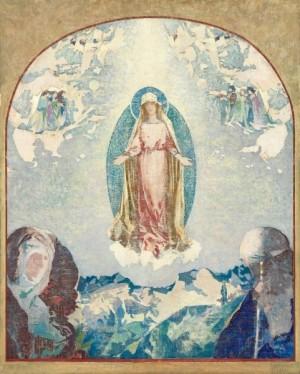 """""""Rosa Mystica"""" (ca. 1923), óleo de Augustus Vincent Tack, 1870-1949."""