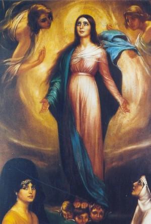 """""""Virgen de los Faroles"""" (1928), óleo de Julio Romero de Torres. Museo del pintor en Córdoba, España."""