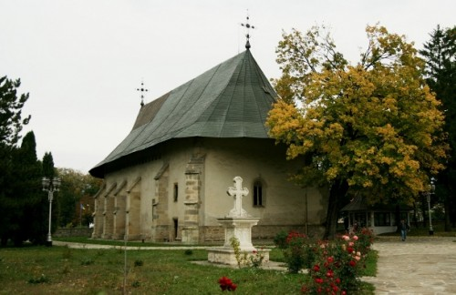 Vista del monasterio de Bogdana (Rumanía), sede del obispado.
