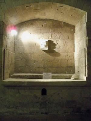 Tumba del Beato en la antigua abadía de San Gil.