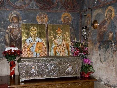 Urna de las reliquias de San Leoncio y de San Teodosio de Brazi.
