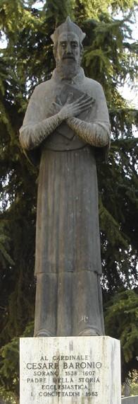 Estatua contemporánea del Venerable dedicada en su ciudad natal de Sora, Frosinone (Italia).