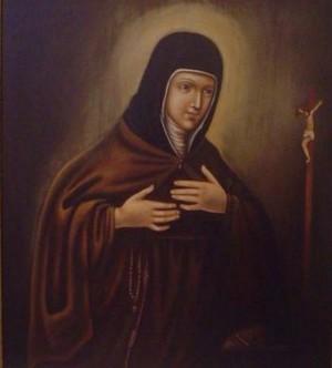 Óleo de Santa Camila Bautista de Varano, clarisa.