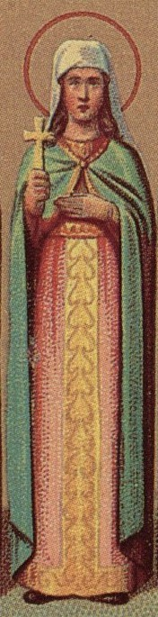 Detalle de la Santa en un calendario ortodoxo para el Prólogo de Ochrid.