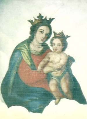 Lienzo de la Virgen del Refugio, obra de fray Amador Castro, venerado en la Calzada del Federalismo, Guadalajara (México).
