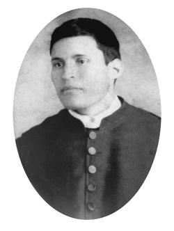 Fotografía del Santo en su juventud, cuando seminarista.