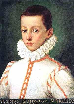 Retrato de San Luís Gonzaga a los doce años. Museo histórico de Viena, Austria.