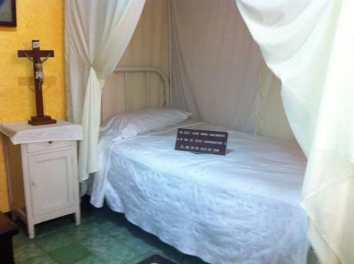Cama donde murió la Santa.