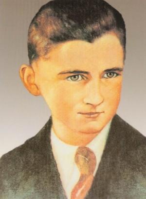 Estampa devocional polaca del Beato Ceslao Joswiak, mártir en 1942.