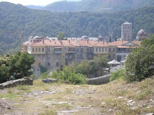 Monasterio Iviron en el Monte Athos (Grecia).