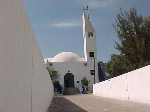 Santuario de la Quinta aparición, que conmemora la aparición de la Virgen de Guadalupe al tío Juan Bernardino y construido sobre la casa de ambos en Tulpetlac, Estado de México.
