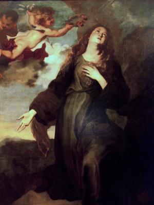Óleo barroco de la Santa, obra de Anton Van Dyck. Galleria Palazzo Abatellis, Palermo (Italia).