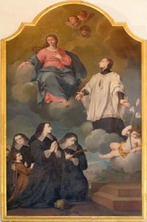 Lienzo de las Venerables con su tío San Luis Gonzaga.