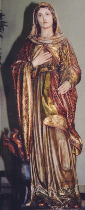 Imagen de la Santa venerada en su parroquia de Palermo, Italia.