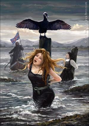 """""""Martyrs of Wigtown"""", ilustración del artista  contemporáneo Sav Scatola. Fuente: http://savscatola.blogspot.com.es/"""