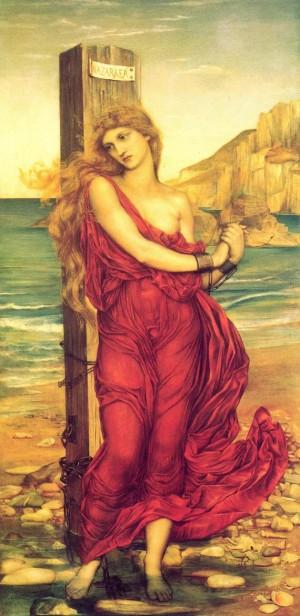 """""""Mártir cristiana"""", lienzo de Evelyn De Morgan (1888) que representa a Margaret Wilson. De Morgan Centre, Londres, Reino Unido."""