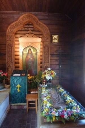Vista de la tumba del Santo en Vyritsa.
