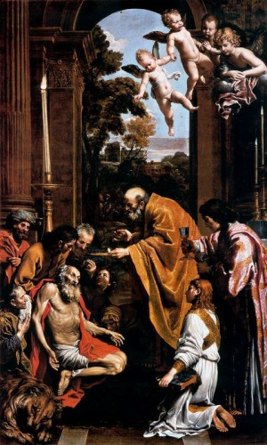 Ilustración 12. Última comunión de san Jerónimo.  Domeniccino. Museos Vaticanos.