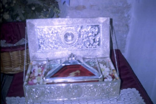 Reliquia enviada desde Padua a Tebas.