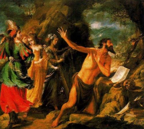 Ilustración 3. Tentaciones de San Jerónimo. Valdés Leal. Museo de Bellas Artes de Sevilla.