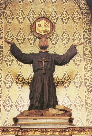 Imagen procesional del Beato, que se venera en la Iglesia Parroquial de Santiago el Mayor de Minaya.