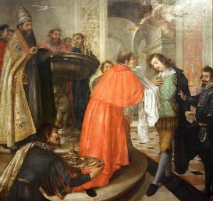 Ilustración 1. Bautismo de san Jerónimo. Valdés Leal. Museo de Bellas Artes de Sevilla.