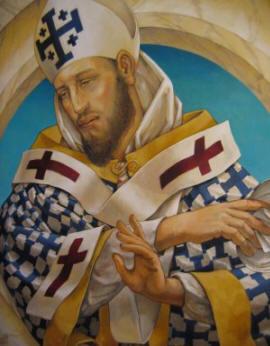 San Cirilo, obispo de Jerusalén.