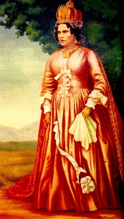 Ranavalona I, reina de Madagascar. Perseguidora de los cristianos malgaches.