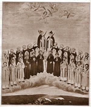 Estampa de los santos mártires vietnamitas.