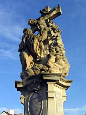 Conjunto escultórico de la visión de Santa Lutgarda de Tongres. Puente de Carlos, Praga (República Checa).