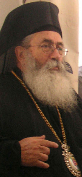 Su Eminencia Damianos I Samartsis, arzobispo del Sinai, Faran y Raitho.