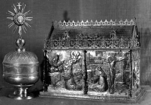 Reliquias de Santa Lutgarda de Tongres en Ittre (Bélgica).