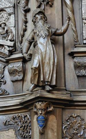 Escultura del Santo, obra de Georg Anton Machein (1715). Bad Schussenried, Alemania.