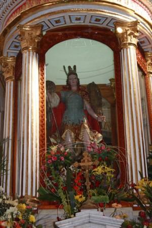 Imagen de San Miguel venerada en su Santuario, en Nativitas, Tlaxcala, México. Tomada de Flickr cortesía de Rodolfo de Guadalupe.